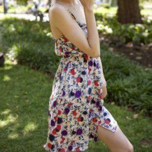 Erin Kleinberg halter floral dress Size S